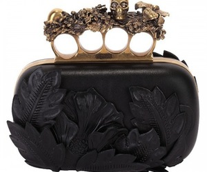 Alexander McQueen, black, and leather image