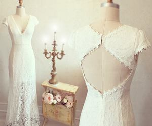 lace, dress, and white image