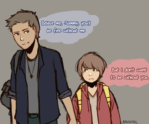 art, dean winchester, and sam winchester image