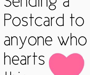 postcard, heart, and we heart it image