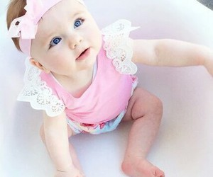 baby, bow, and style image