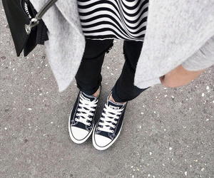 converse, girl, and black image