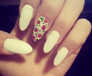 floral design, flowers, and nails image