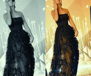 angel, beauty, and black dress image