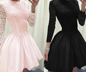 black, dress, and pink image