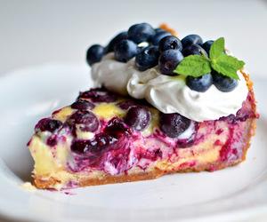 cake, blueberry, and sweet image