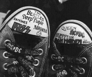 nirvana, Queen, and kiss image