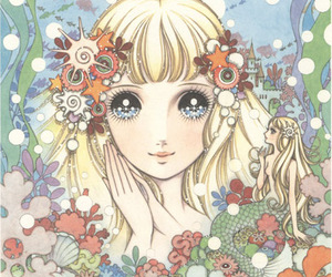 art, shoujo, and the little mermaid image