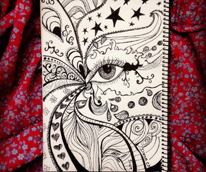 abstract, art, and drawing image