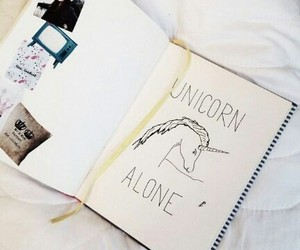 alone, diary, and black image
