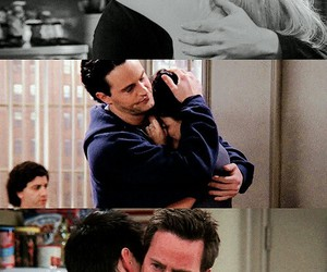 friends, chandler bing, and hug image