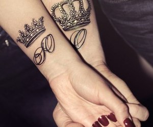 tattoo, Queen, and couple image
