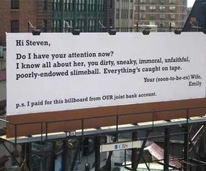 funny, billboard, and text image