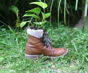 boots, plants, and earth image