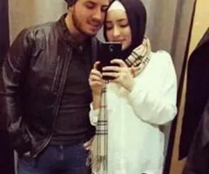 couples, hijab, and muslims image