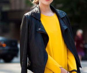 fashion, yellow, and model image