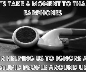 earphones, funny, and music image