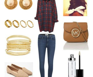 gold, mk, and Polyvore image