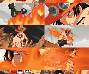 one piece, anime, and ace image