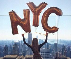 nyc, balloons, and new york image