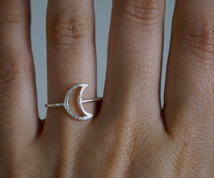 moon, ring, and silver image
