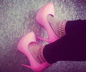 pink, fashion, and high heels image