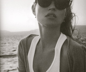kate moss, model, and beach image