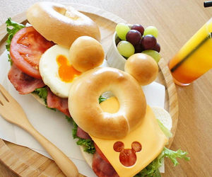 bagel, disney, and tasty image