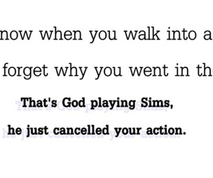 god, sims, and text image