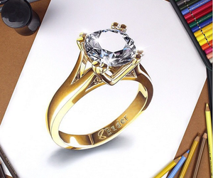 art, drawing, and ring image