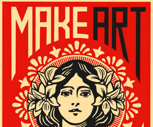 art, war, and obey image