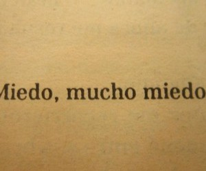 miedo, book, and frases image