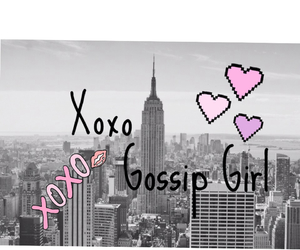 gossip girl, nyc, and pink image
