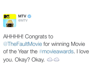 mtv, mtv movie awards, and the fault in our stars image