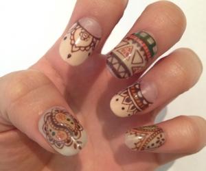 boho, coachella, and nail art image