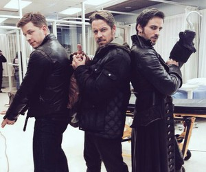 once upon a time, hook, and prince charming image