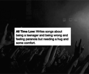 all time low, bands, and concert image