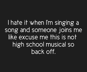 funny, true, and high school musical image