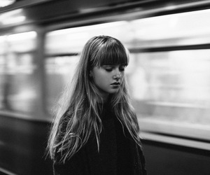 girl, station, and subway image