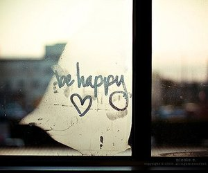 happy, be happy, and heart image