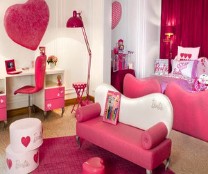 pink, room, and cute image