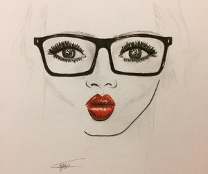 art, face, and girl image