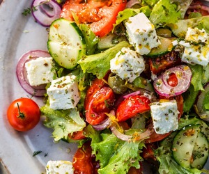 feta, salad, and greek image