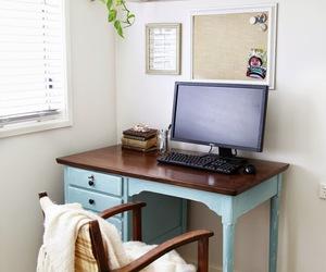 decor, desk, and diy image