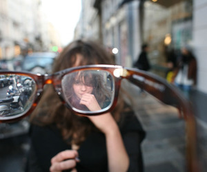 girl, glasses, and street image
