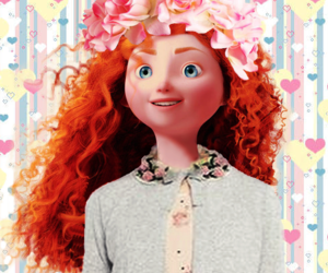 brave, disney princess, and merida image