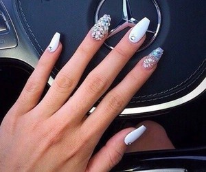 nails, car, and beauty image