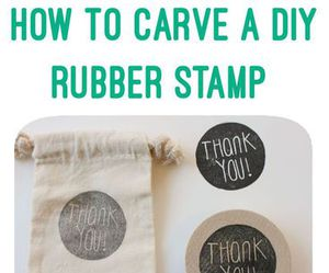 diy, stamp, and thank you image