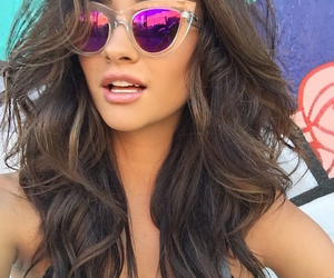 shay mitchell, hair, and sunglasses image