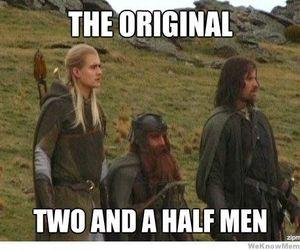 funny, Legolas, and aragorn image